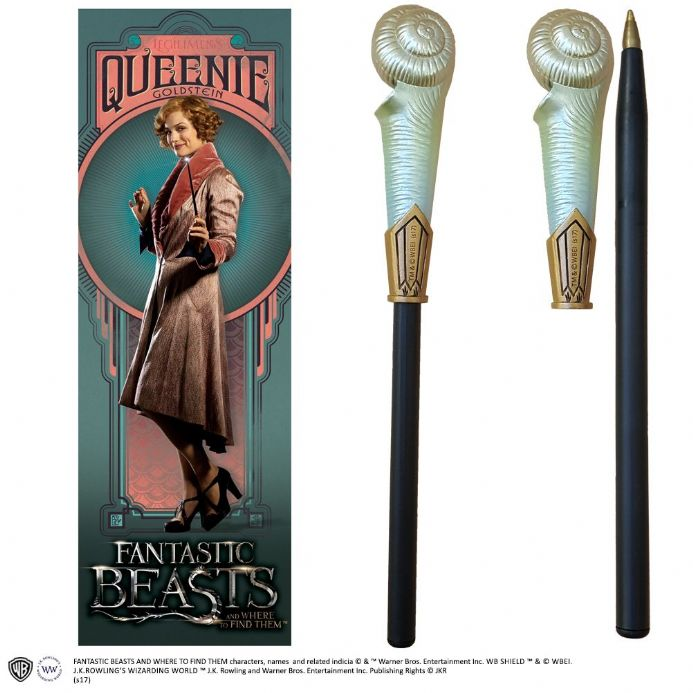 Queenie Goldstein Wand Pen and Bookmark | Buy now at The G33Kery - UK Stock - Fast Delivery